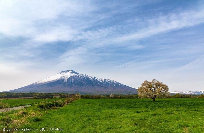 日本富士山风景背景海报素材图片