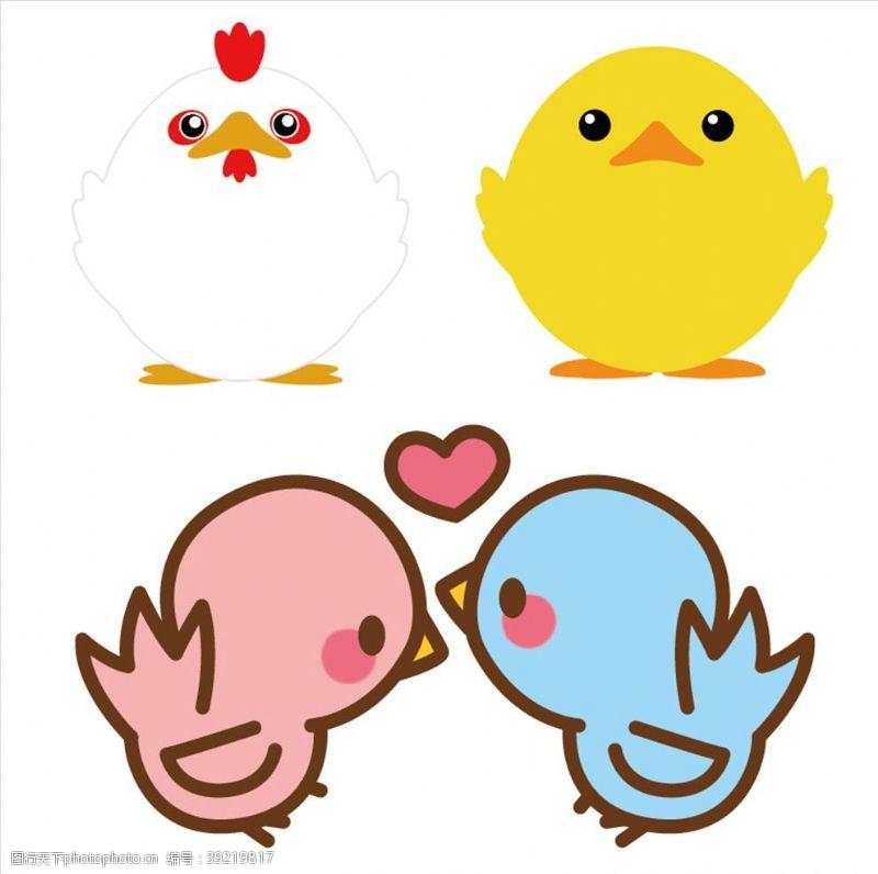 可爱小鸟 动物卡通图片