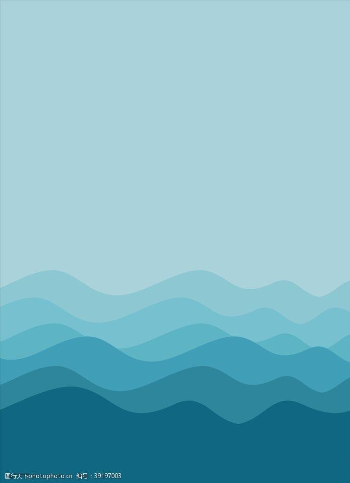 简约海浪背景素材cdr图片