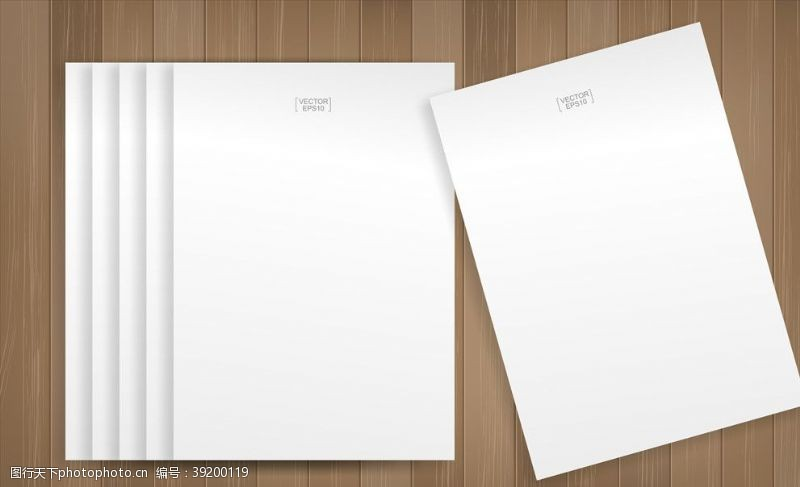 效果展示 空白纸张样机图片
