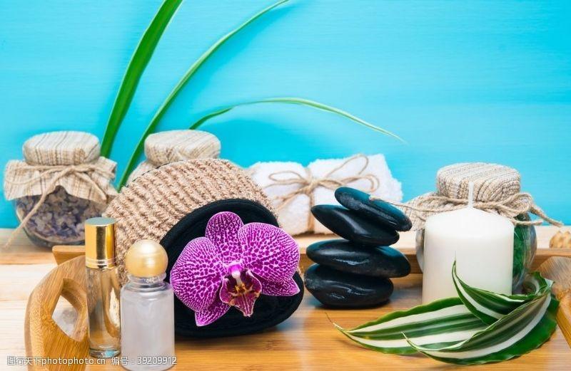 spa水疗 养生按摩石图片