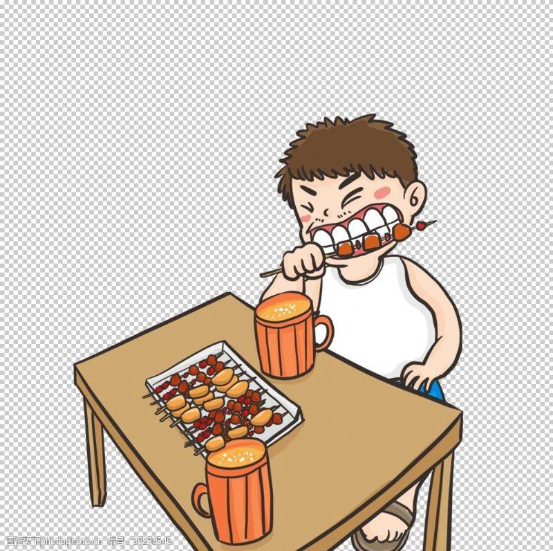撸串 吃烧烤图片