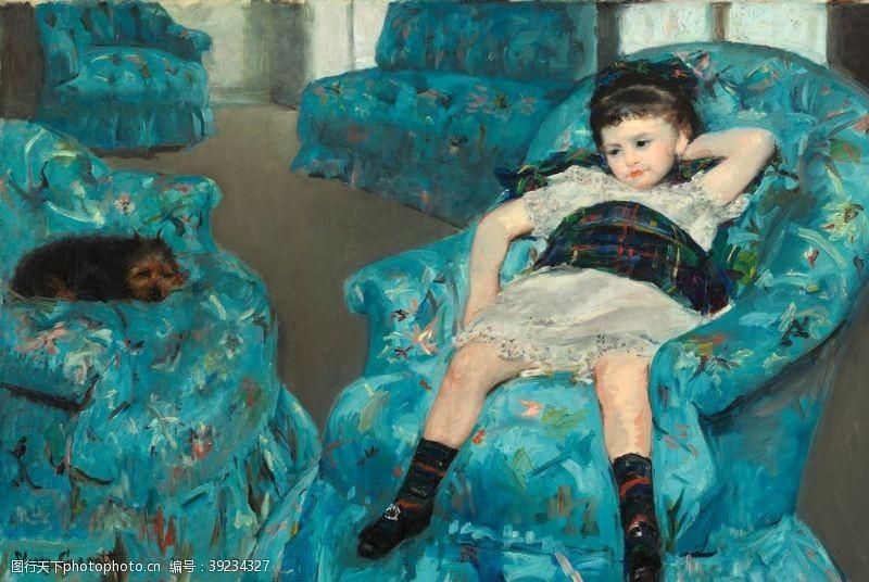 64dpi 卡萨特古典人物油画图片