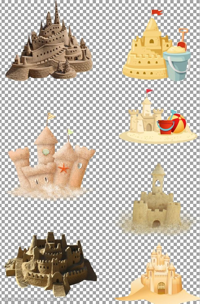 沙堡 沙堆城堡图片