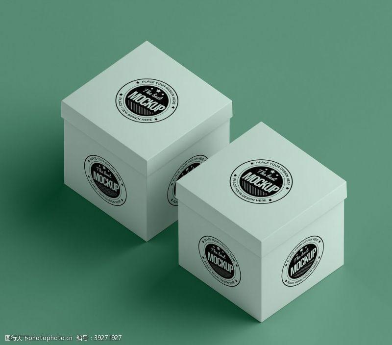 标志样机包装盒样机图片