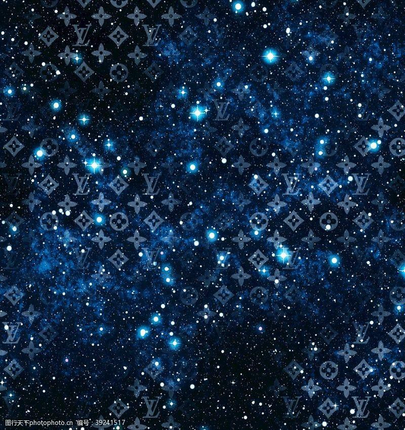 星空印花 大牌底纹图片