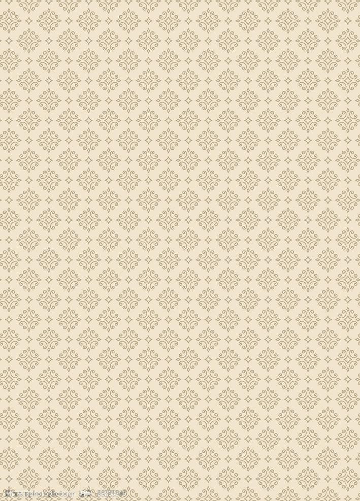 时尚几何复古花纹背景图片