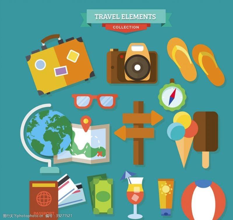 旅行箱精致旅行图标图片