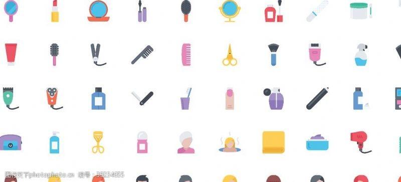 刷牙 美容美发图标图片