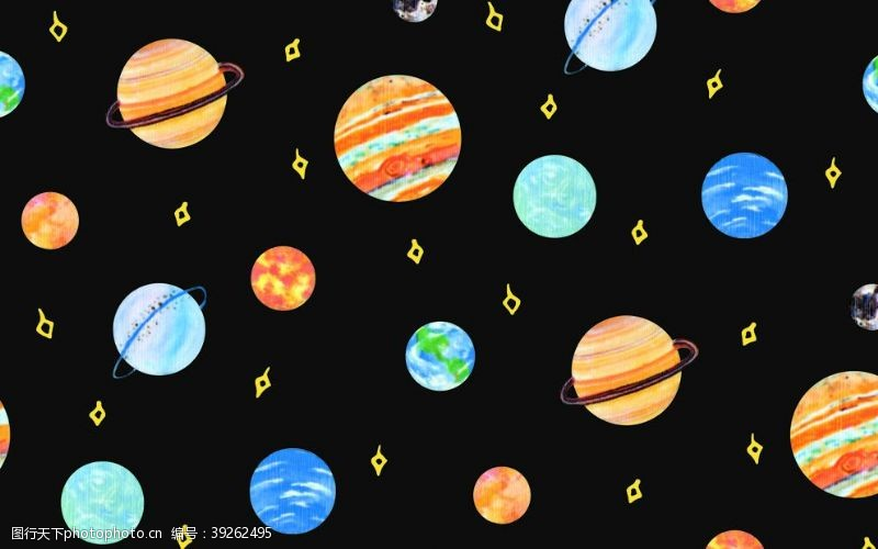 星空图案星球图案图片