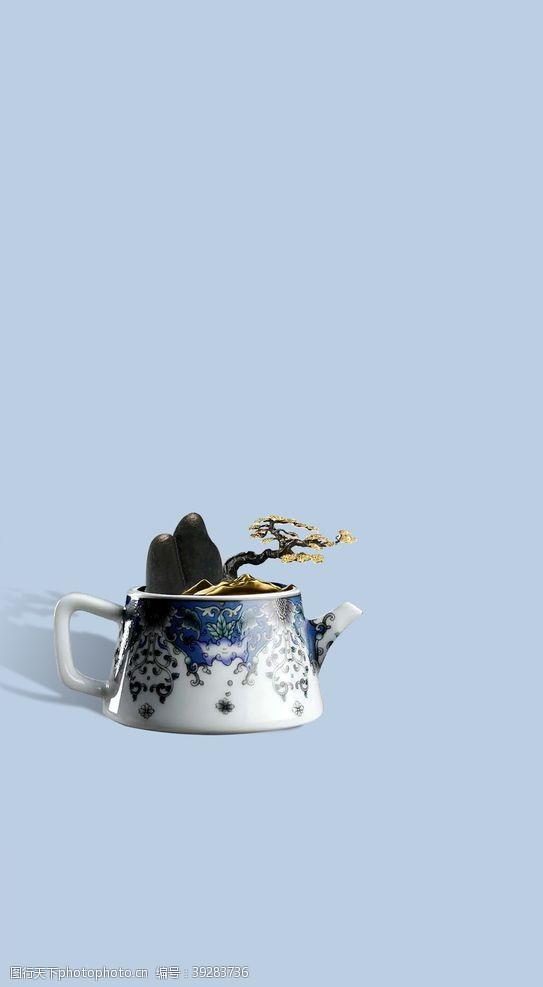 创意茶壶素材图片
