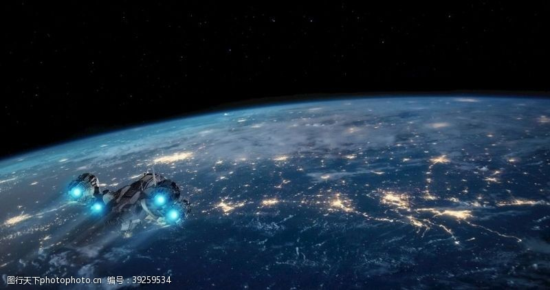 立体画地球图片