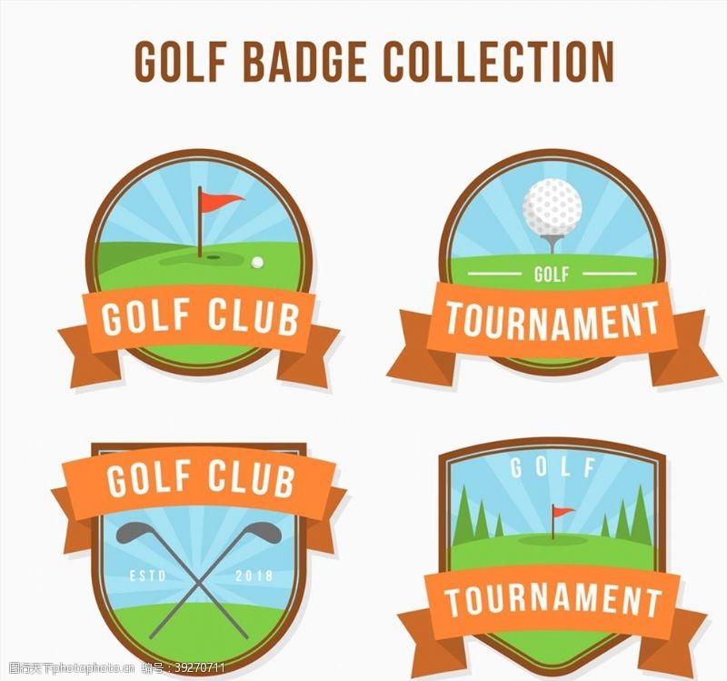 高尔夫俱乐部徽章图片