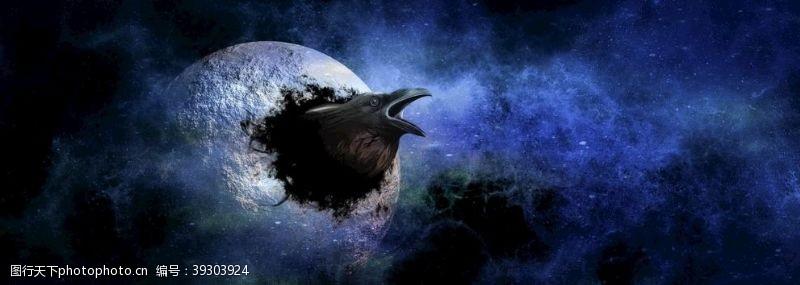 梦幻星空科幻背景图片