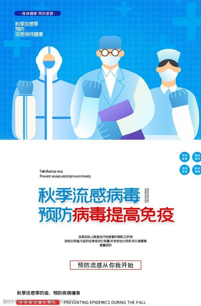 流感预防海报图片