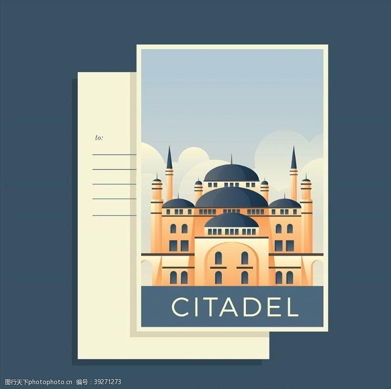 欧洲建筑旅游地标邮票图片