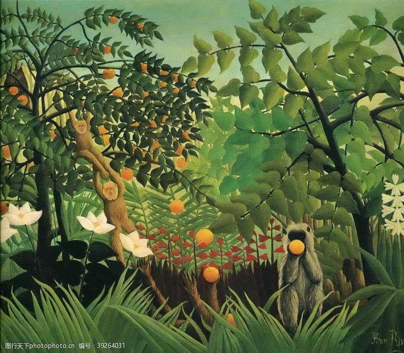 亨利自然风景创意油画图片