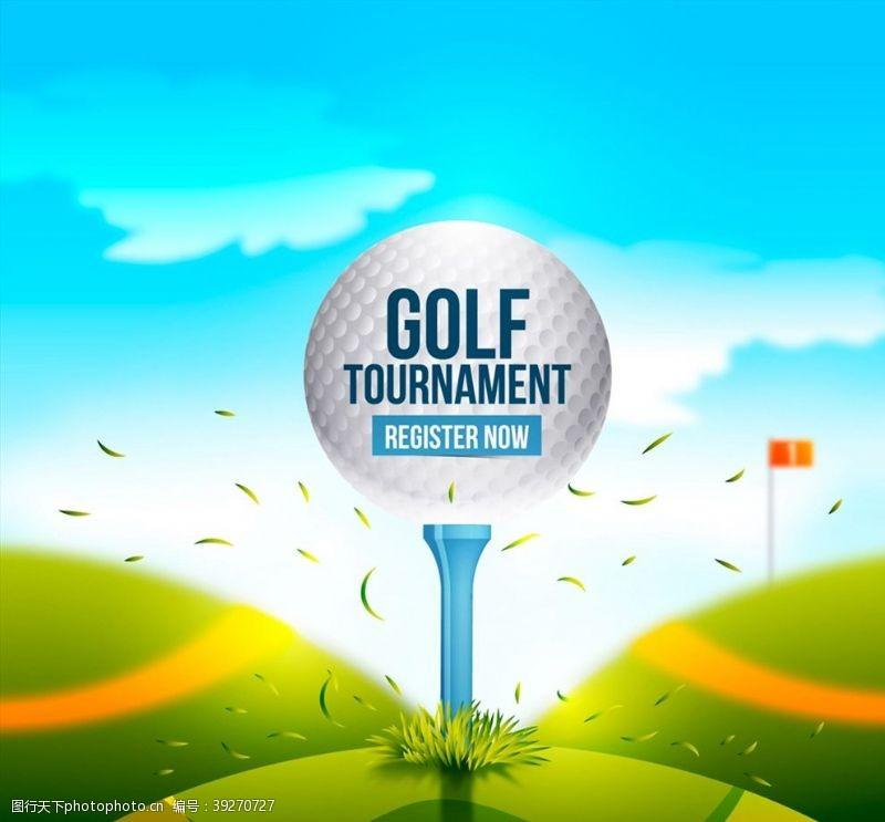 高尔夫锦标赛海报图片