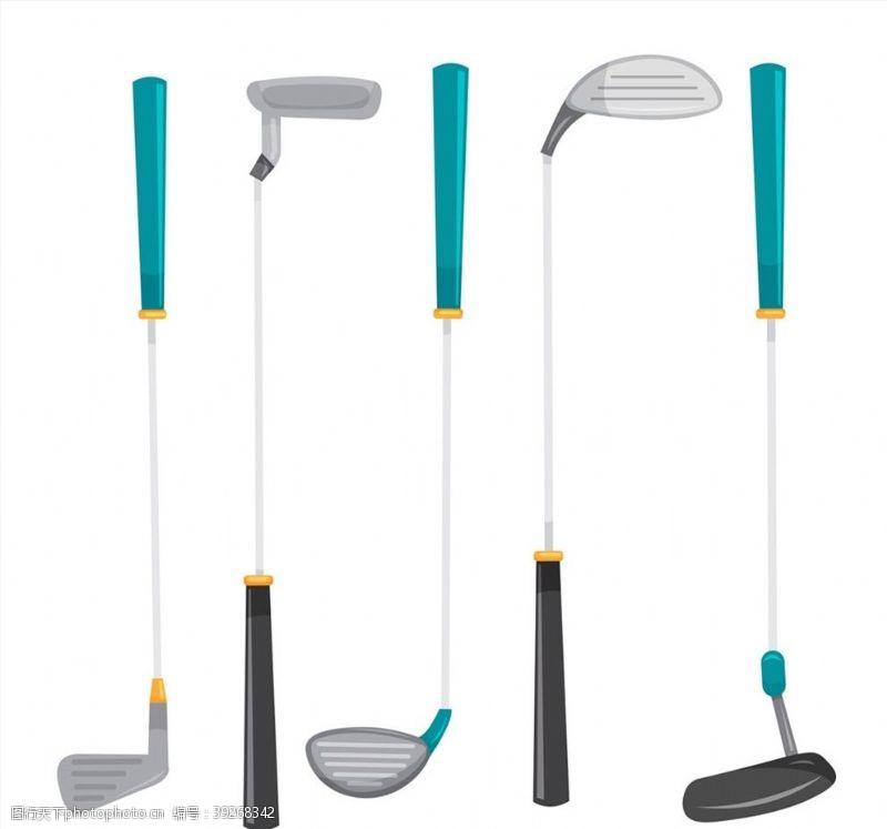 运动器材高尔夫球杆设计图片