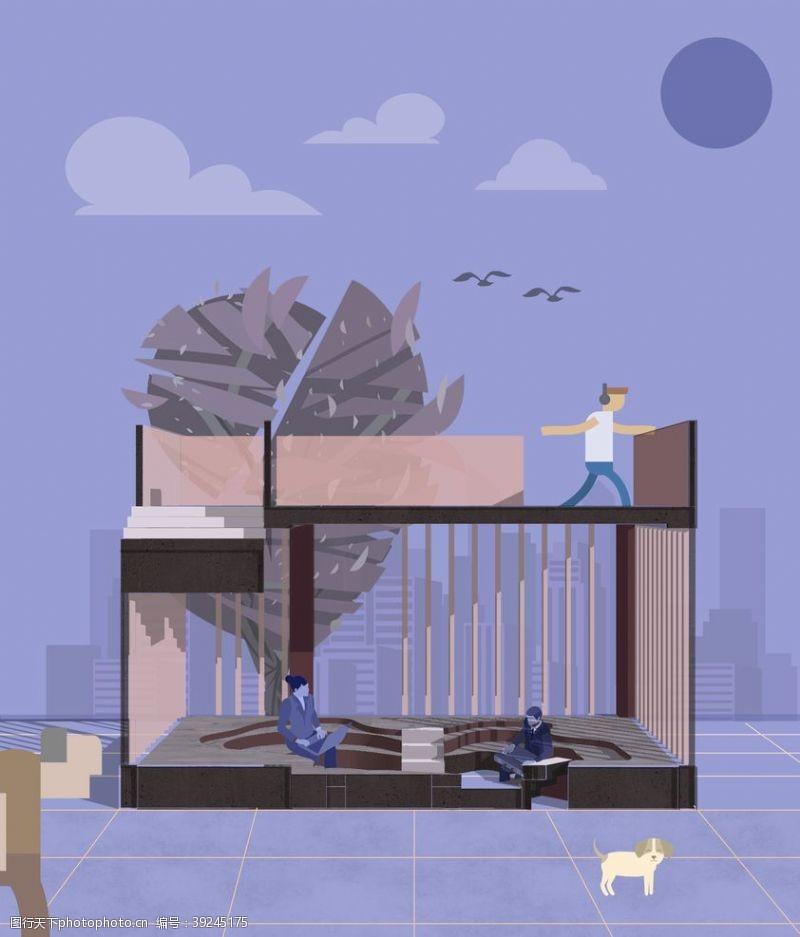 建筑插画图片