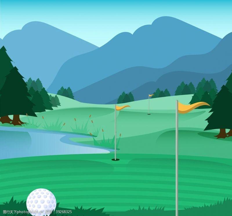 郊外高尔夫球场图片