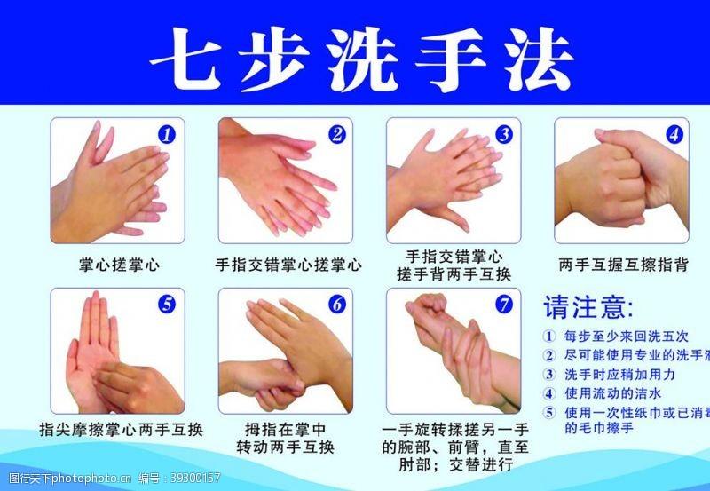 温馨提示展板七步洗手法图片