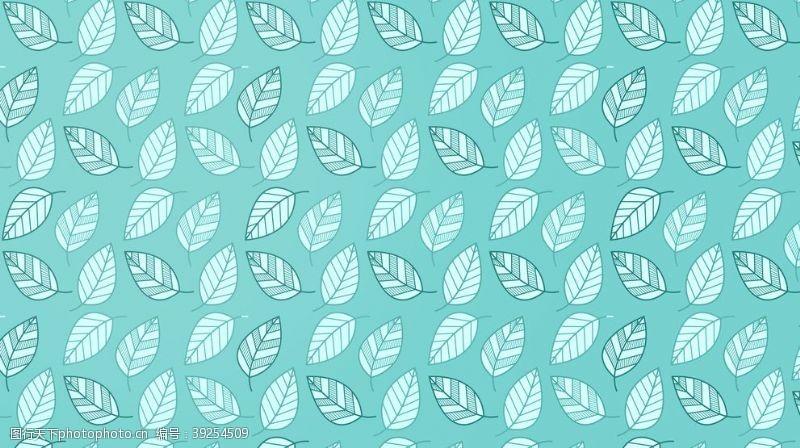 绿色花纹小清新叶子背景图片