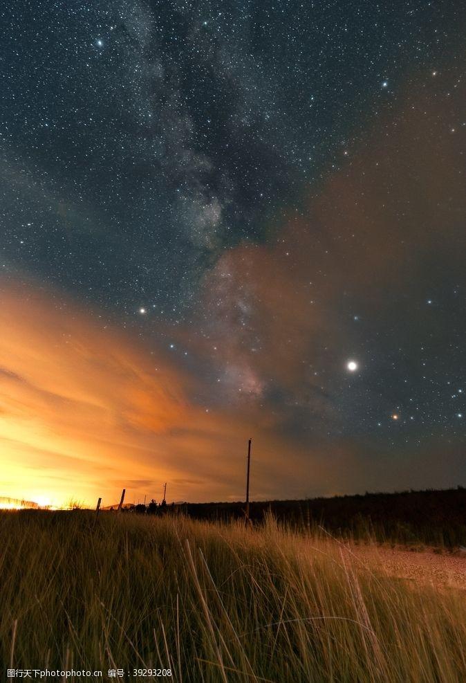 星空夜晚星空图片