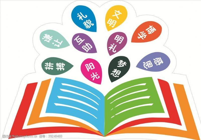 校园文化标语学校文化图片