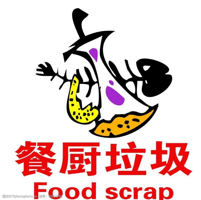 垃圾分类餐厨垃圾标志图片