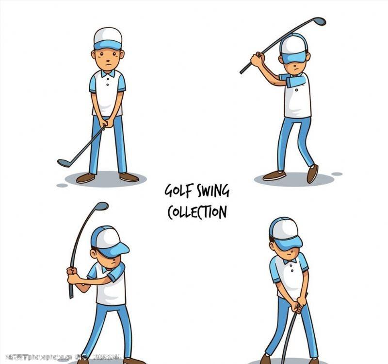 高尔夫男子动作图片