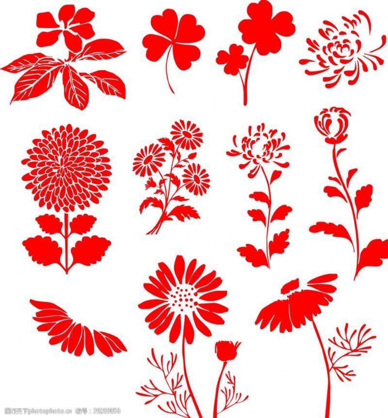 四叶草花素材图片