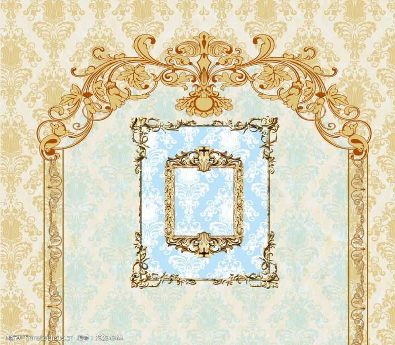金色主题婚礼背景墙图片