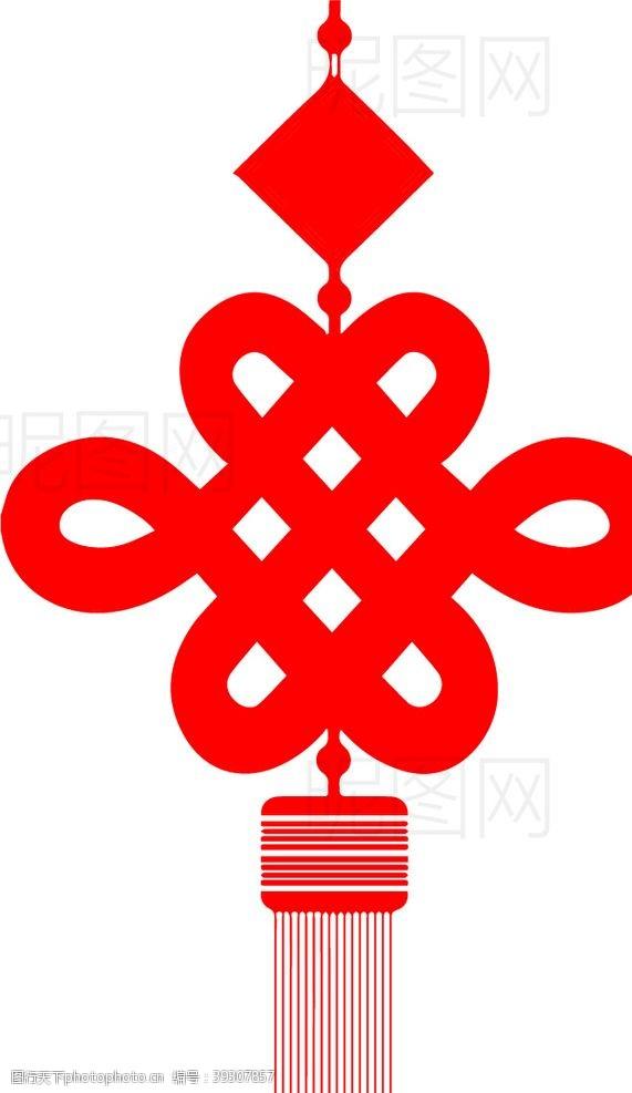 红色喜庆背景中国结图片