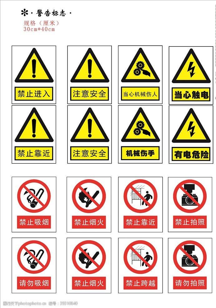 招贴设计安全警示标识标志牌图片