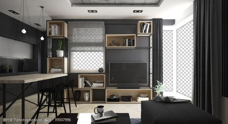 北欧客厅室内设计图片