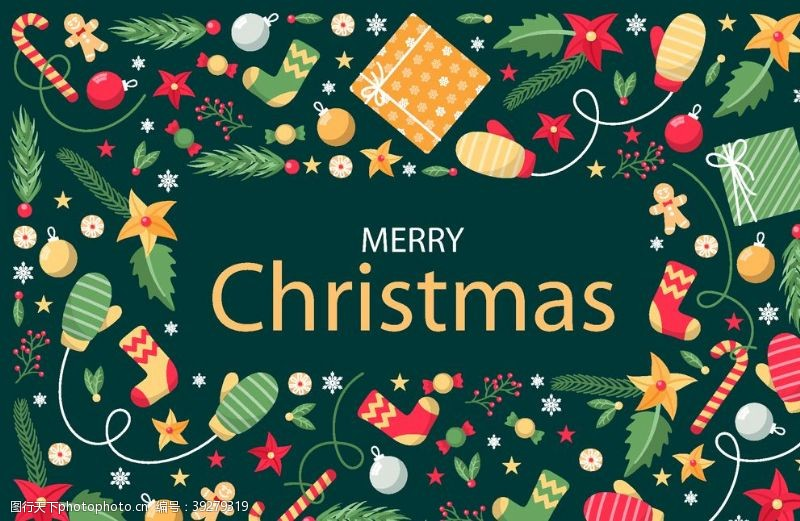 圣诞矢量素材圣诞节矢量元素图片