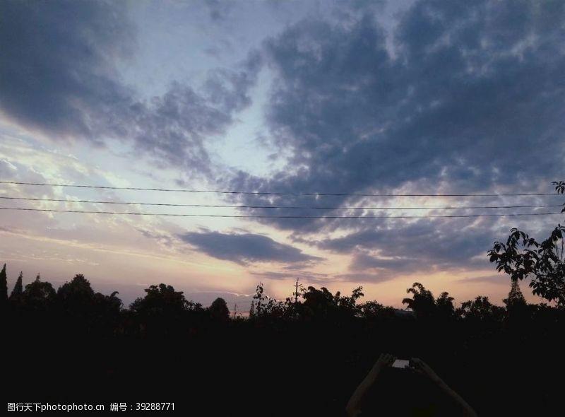 黄昏美景晚霞图片