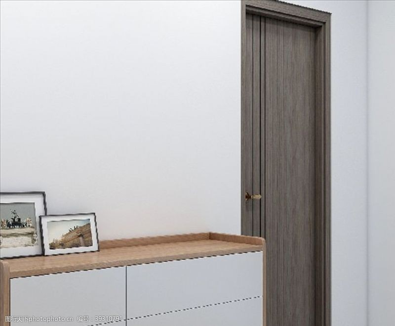 北欧玄关柜图片