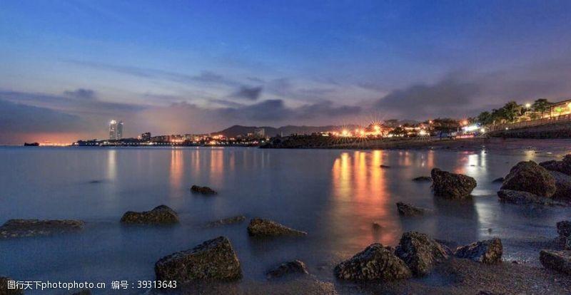 唯美海洋夜景迷人醉海景图片