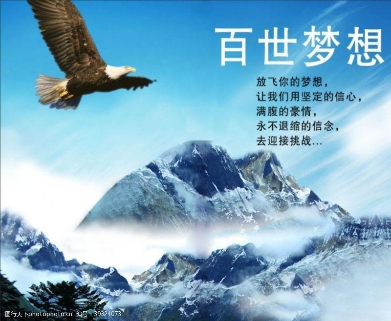 鹰展板企业文化图片