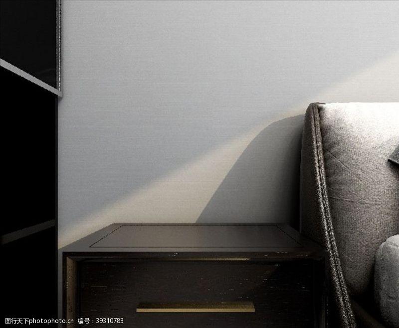 北欧床头柜图片