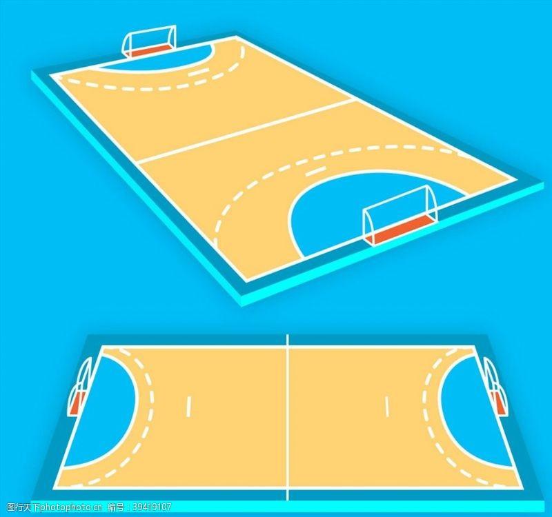 创意手球场设计图片