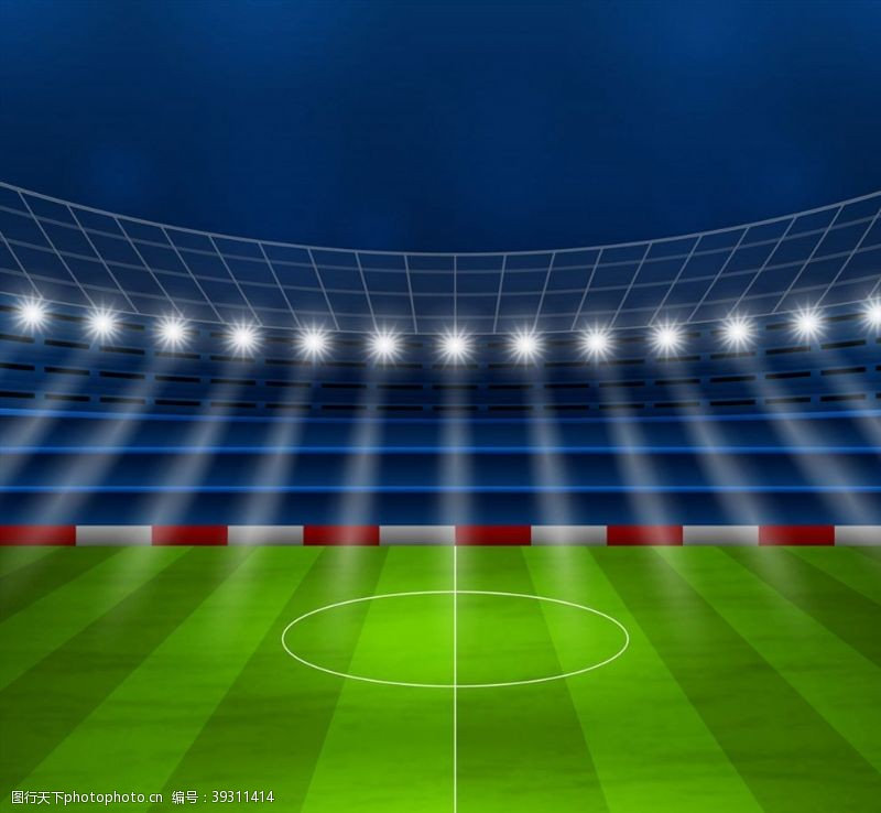 足球场创意夜晚足球赛场图片