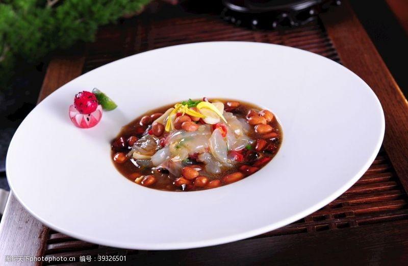 美食菜品醋椒蜇头图片