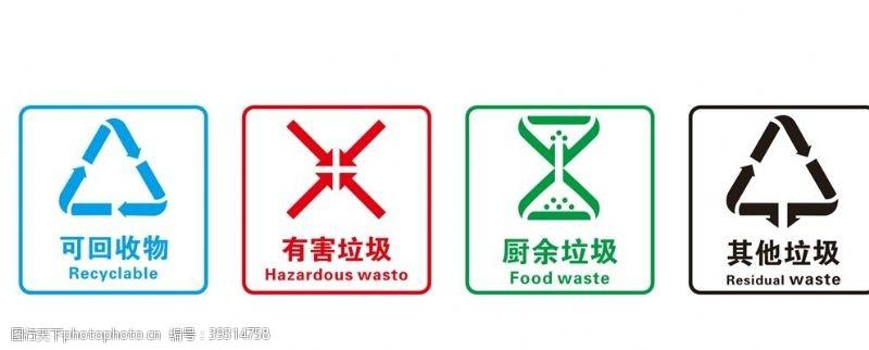 垃圾分类图标图片