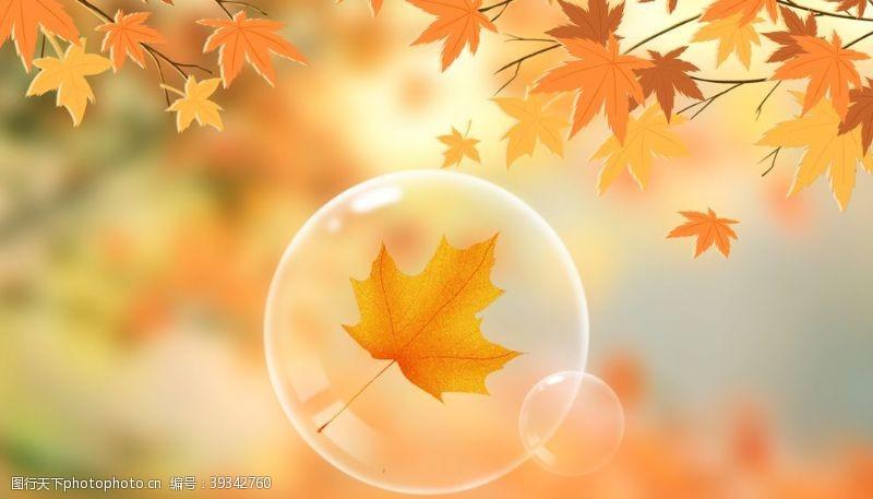 秋季促销海报秋天图片