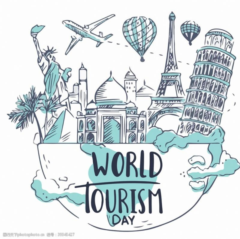 世界各地旅游背景图片