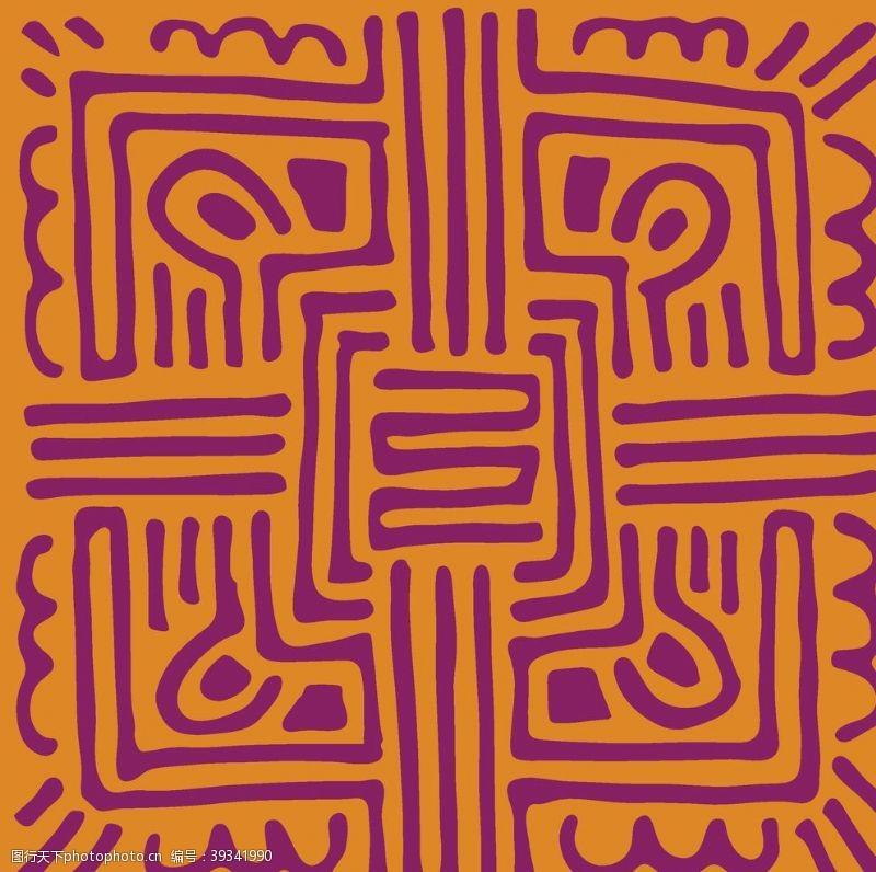 欧式花纹手绘抽象花纹图片