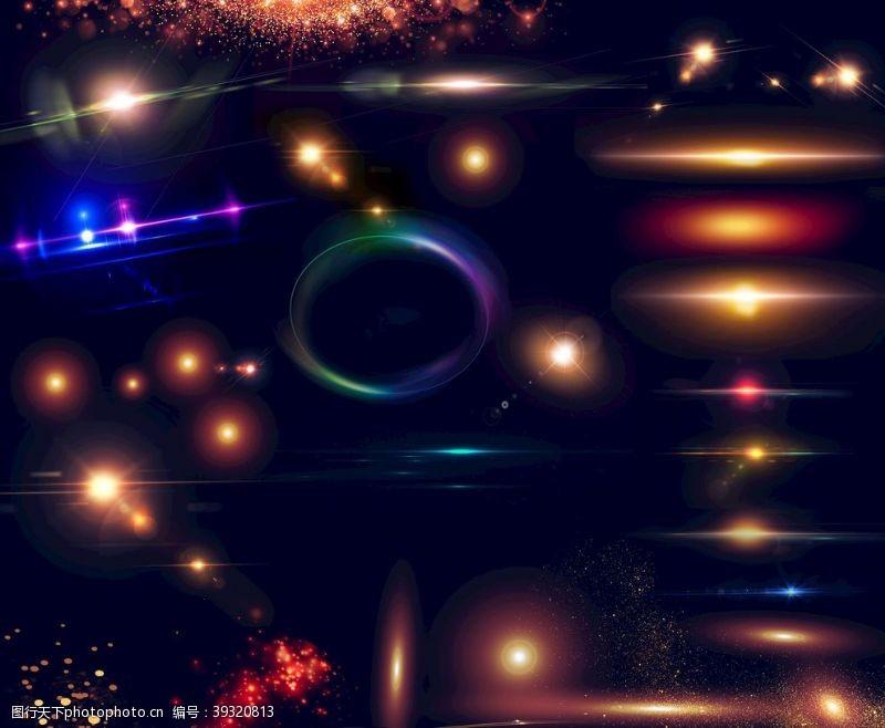 梦幻星空星光光效光线光晕光点光圈图片